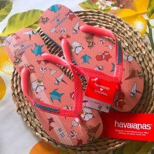 Brand New Havaianas Japan Origami Flip Flop Slides